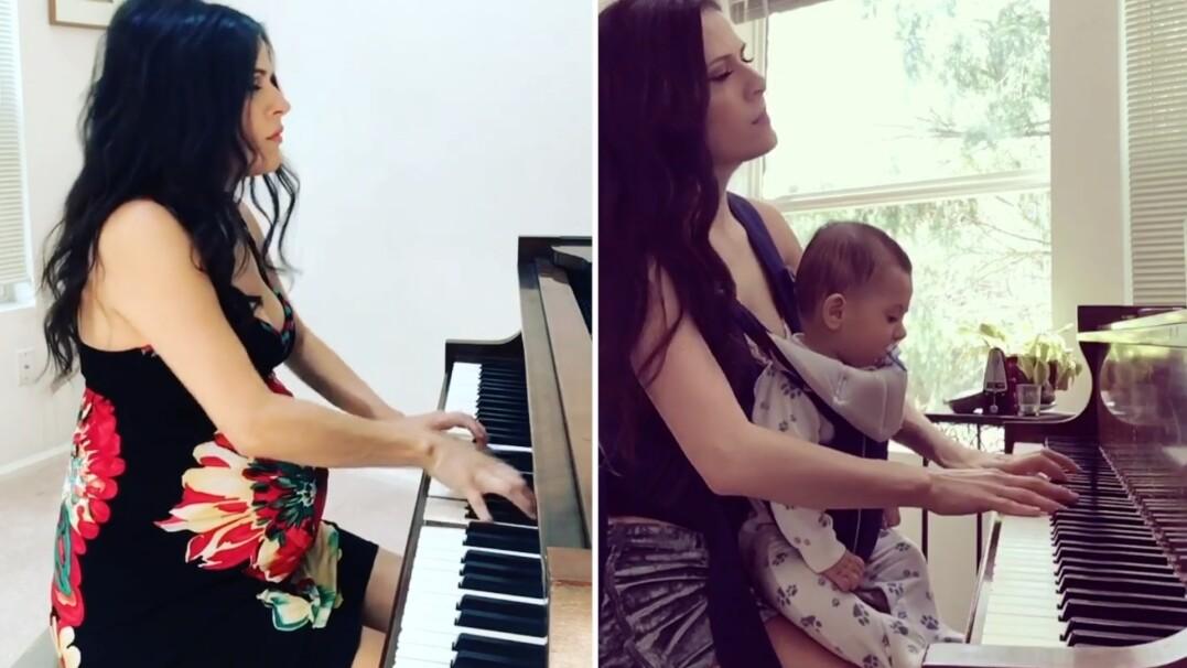 Pianistka grała synowi już w ciąży. Teraz ćwiczą razem
