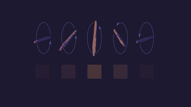Koziołkujący ruch Oumuamuy (NASA/JPL-Caltech)
