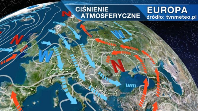 Niż znad Ukrainy wpływa na pogodę w Polsce